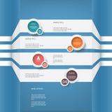 Diseño del vector del menú de Infographics con cuatro opciones ilustración del vector