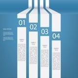 Diseño del vector del menú de Infographics con cuatro opciones libre illustration