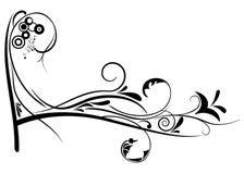 Diseño del vector del ornamento de la flor Foto de archivo libre de regalías