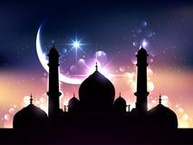 Diseño del vector del Ramadán stock de ilustración