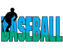 Diseño del vector del tema del béisbol imagen de archivo