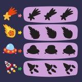 Diseño del vector del juego del espacio ilustración del vector