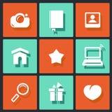 Diseño del vector para el web y el móvil Fotografía de archivo libre de regalías