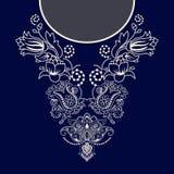 Diseño del vector para las camisas del cuello, blusas ilustración del vector