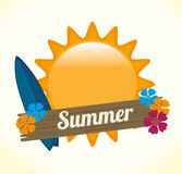 Diseño del verano Foto de archivo