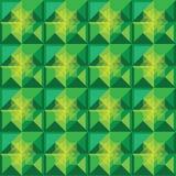 Diseño del verde del modelo de los cuadrados Fotografía de archivo libre de regalías