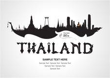 Diseño del viaje de Tailandia Fotos de archivo