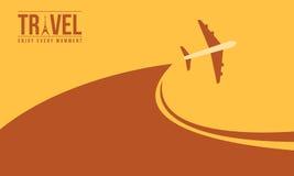 Diseño del viaje del fondo con el aeroplano stock de ilustración