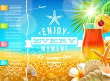 Diseño del viaje y de las vacaciones de verano Imagen de archivo libre de regalías
