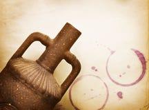 Diseño del vino de la vendimia Imagen de archivo libre de regalías