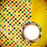 Diseño del vintage del vector Círculos de colores de la pizca del fondo del Grunge stock de ilustración