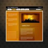 Diseño del Web site Imagen de archivo