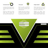 Diseño del Web site en verde y negro libre illustration