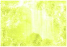 Dise?o descolorado suave verde amarillo de la textura del fondo del grunge del vintage de la esponja del fondo del sacador abstra imagen de archivo