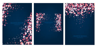 Diseño determinado azul del corazón del ejemplo del vector Foto de archivo libre de regalías