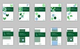 Diseño determinado de la plantilla de la cubierta de la bandera para el web y la impresión del libro con Foto de archivo libre de regalías