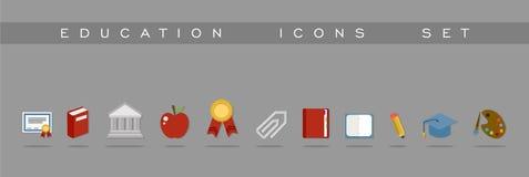 Diseño determinado de los iconos de la educación Foto de archivo libre de regalías