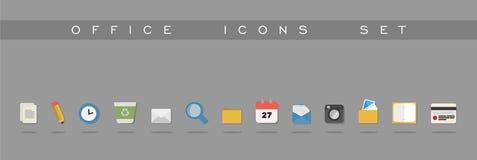 Diseño determinado de los iconos de la oficina Foto de archivo libre de regalías
