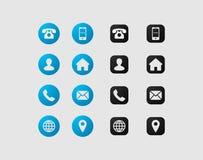 Diseño determinado del icono de la tarjeta de visita fotografía de archivo libre de regalías