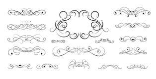 Diseño dibujado mano clásica del vector del elemento Imagen de archivo