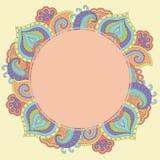 Diseño dibujado mano de la tarjeta de la invitación de la elegancia Imagenes de archivo