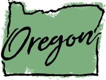 Diseño dibujado mano del estado de Oregon libre illustration