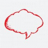 Diseño dibujado mano del símbolo del ejemplo del discurso de la burbuja Imagen de archivo
