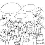 Diseño divertido de los gatos ilustración del vector
