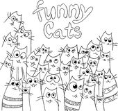 Diseño divertido de los gatos Imagen de archivo libre de regalías
