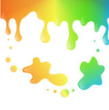 Diseño dulce del fondo del arco iris brillante del chapoteo Imagen de archivo
