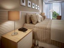 Diseño ecléctico del dormitorio Imágenes de archivo libres de regalías
