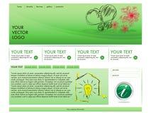Diseño ecológico de la plantilla Imágenes de archivo libres de regalías