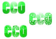 Diseño ecológico en verde Ilustración del Vector