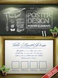 Diseño educativo de la plantilla del cartel del concepto Fotos de archivo libres de regalías