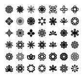 Diseño elegante abstracto del vector del icono del logotipo de la flor Símbolo superior creativo universal Muestra agraciada del  ilustración del vector
