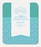 Diseño elegante azul retro de la invitación Foto de archivo