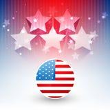 Diseño elegante de la bandera americana ilustración del vector