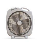 Diseño elegante de la fan eléctrica aislado en el fondo blanco foto de archivo