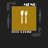 Diseño elegante del menú del restaurante Fotos de archivo