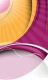 Diseño elegante del vector con los rayos y la onda Fotografía de archivo libre de regalías