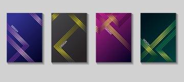 Diseño elegante del vector de la cubierta del cartel Fondo geométrico Vector las plantillas para los carteles, las banderas, los  Fotos de archivo
