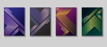 Diseño elegante del vector de la cubierta del cartel Fondo geométrico Vector las plantillas para los carteles, las banderas, los  Imagenes de archivo