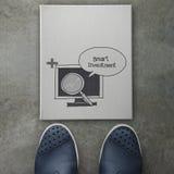 Diseño elegante dibujado mano de la inversión Fotos de archivo libres de regalías