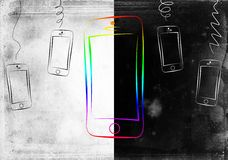 Diseño elegante moderno del arte del aislamiento del teléfono Foto de archivo
