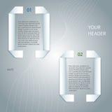 Diseño element03 del fondo de la página del informe de negocios Imagen de archivo