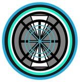 Diseño elemental para la rueda stock de ilustración