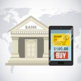 diseño en línea del banco libre illustration