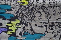 Diseño en una pared, fondos urbanos de la pintada Imagen de archivo libre de regalías