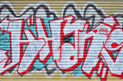 Diseño en una pared, fondos urbanos de la pintada Foto de archivo libre de regalías