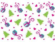 Diseño encantador del fondo de la Navidad en suavemente verde stock de ilustración